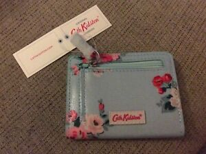 BNWT New Cath Kidston Card Purse - Islington Bunch Spearmint PVC Coated Cotton