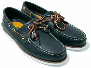 Timberland Men's Classic 2-Eye Boat Shoes Brown Navy