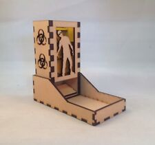 Zombie Dice Tower Yellow Acrylic Window Laser Cut MDF v1