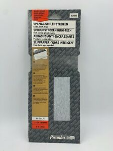 PIRANHA SANDING SHEETS PERFORATED 115MM X 280MM 120 GRIT X31062