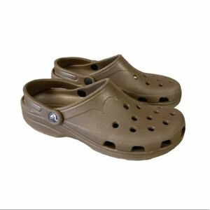 Crocs Brown Clogs Shoes Mens size 6-7 Womens 8-9