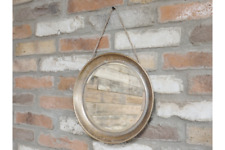 31cm Small Chain Hanging Round Gold Frame Porthole Mirror Wall Mount