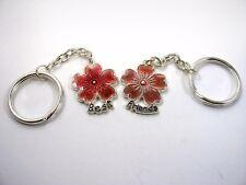 Collectible Keychain: Best Friends Flower Design 2 Pieces