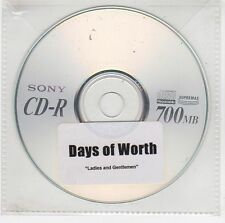 (GI91) Days of Worth, Ladies and Gentlemen - DJ CD