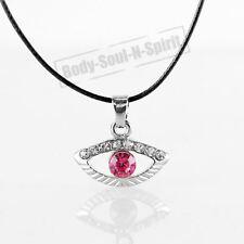 Collar ROJO del ojo malvado cristal Amuleto Colgante Joyería Judaica Kabbalah