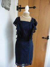 Somerset by Alice Temperley Navy Cotton Broderie Dress Size 10 RRP £160 BNWT