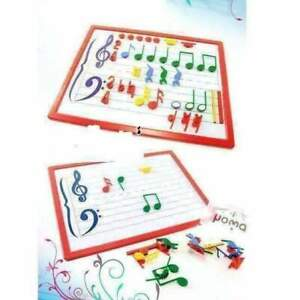 Magnetic Music Teaching White Board with Magnetic Music Symbols