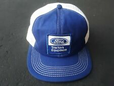 Vintage Ford Tractors & Equipment Snapback Mesh Trucker Hat Made The In Usa Vhtf