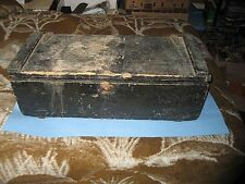 Very old Wood Tool Box Original Paint. Wing nut Fasteners. Auto Or Coach?