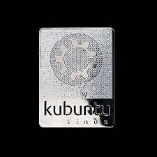 Powered by Kubuntu Linux Metal Decal Sticker Case Computer PC Laptop Badge