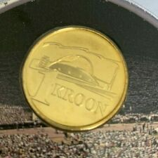 """Estonia 1999 1 Kroon UNC Coin """"Song Festival"""" in Coin Card/Blister KM#36"""