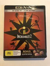 Disney Incredibles 2  4K + Blu-Ray 2-Discs 📀📀 New & Sealed PG 🍿 Movie Pixar