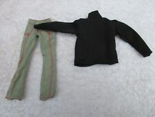 ACTION FIGURE 1/6TH BLACK POLO NECK AND DENIM TROUSERS