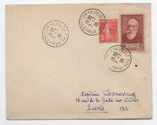 1938 BELLE LETTRE AFFRT COMPOSE N°380 OBLITERATION SPECIALE