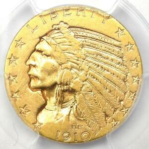 1910-S Indian Gold Half Eagle $5 Coin - Certified PCGS XF45 (EF45) - Rare Coin!