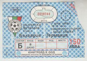 Old Football ticket Bulgaria 3:2 Germany 1995