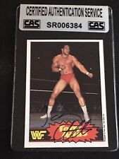 TONY ATLAS 1985 OPC WWF WRESTLING SIGNED AUTOGRAPHED CARD #3 CAS AUTHENTIC