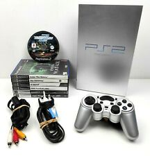 Playstation 2 Silver PS2 Fat Console + Cables Fully Tested 7 Games & Controller