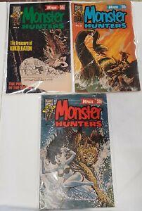 MONSTER HUNTERS # 1, 2, 3 Horror 1978 Australian Comics Re-prints Murray/Planet