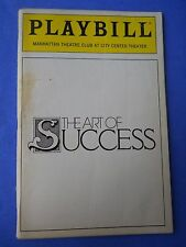 January 1990 - City Center Theatre Playbill - The Art of Success - Tim Curry