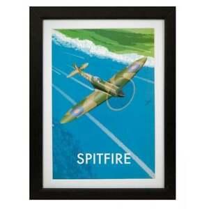 RAF Spitfire framed art print Military Heritage Royal Air Forces Association