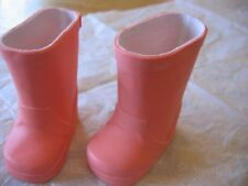 """18"""" American Girl Doll Clothes Z Yang CORAL RAIN BOOTS from RAINY DAY OUTFIT NEW"""