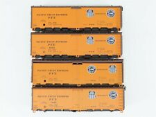LOT - 4 HO Scale Athearn Kit PFE Pacific Fruit Express Mechanical Reefers
