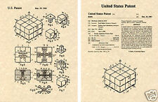 RUBIKS CUBE PATENT Art Print READY TO FRAME!!!!! Vintage 1983 Erno rubik toy