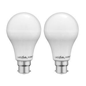 Luce Bella 15W 1590lm Daylight A80 LED BC Globe - Twin Pack