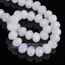 30pcs 10mm Rondelle Faceted Crystal Glass Loose Spacer Beads Wholesale Lot