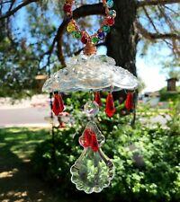 Sun catcher, Red, Rainbow Maker, Glass Beads, Glass Prism, Glass Chandelier