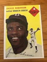 1954 Topps Reprint #10 JACKIE ROBINSON Brooklyn Dodgers Card MINT RP