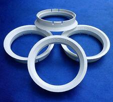 (Z03) 4x Zentrierringe Reduzierringe 63,3 / 57,1 mm  weiß für Alufelgen