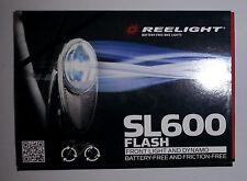 New Reelight SL600 flash bike bicycle front light & dynamo no batteries