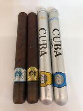 LOT of FOUR, Cuba Paris, Eau De Toilette, Natural Spray, 35 mL, w/ 2 cigar tins