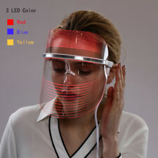 3 Colors LED Therapy Photon Facial Mask Anti Wrinkle Skin Rejuvenation Deep Care