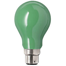 PHILIPS 40W BC GREEN PARTYLIGHT COLOURED GLS BULB - PACK OF TWO