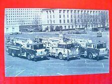 Postcard PA Harrisburg Fire Department Fire Trucks Tower of Power Ladder Trucks