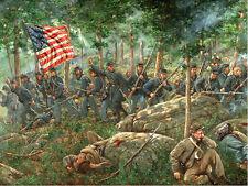 Mark Maritato Civil War CHARGE OF THE 20th MAINE Gettysburg Signed Art Print