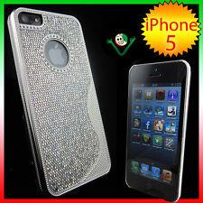 Pellicola+Custodia BRILLANTINI FASHION p iPhone 5 5S SE cover case rigida GRIGIO