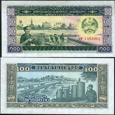 LAOS billet neuf 100 KIP Pick30 MOISSON RESERVOIR SOLDAT FAUCILLE MARTEAU 1979
