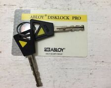 Abloy Disklock Pro Cut Keys With Key Control Card