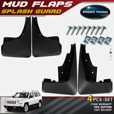NEW 4pcs Front and Rear Splash Guard Mud Flaps for Jeep Patriot MK 2011-2016