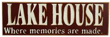 Primitive Wood Sign~LAKE HOUSE~WHERE MEMORIES ARE MADE~Cabin/Cottage Chic/Rustic