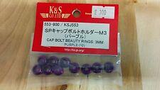 K&S Purple Cap Bolt Beauty Rings: 3mm KSJ553