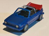 WIKING VW Golf Cabriolet dunkelblau Verdeck weinrot OVP 1:87