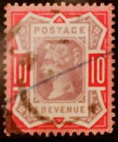 GB BRITAIN SG210 QUEEN VICTORIA QV OLD VERY FINE USED 10d STAMP GB 1887 COV18