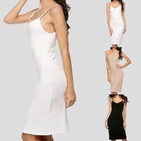 Women Seamless Long Cami Mini Dress Camisole Tank Top Slip Stretchy