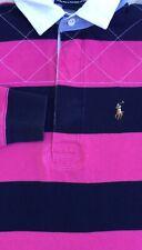 Ralph Lauren Sport Womens Striped Long Sleeve Polo Size S Small