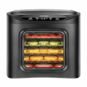Chefman RJ43-SQ-6T 6 Tray Digital Touch Display BPA Free Food Dehydrator, Black